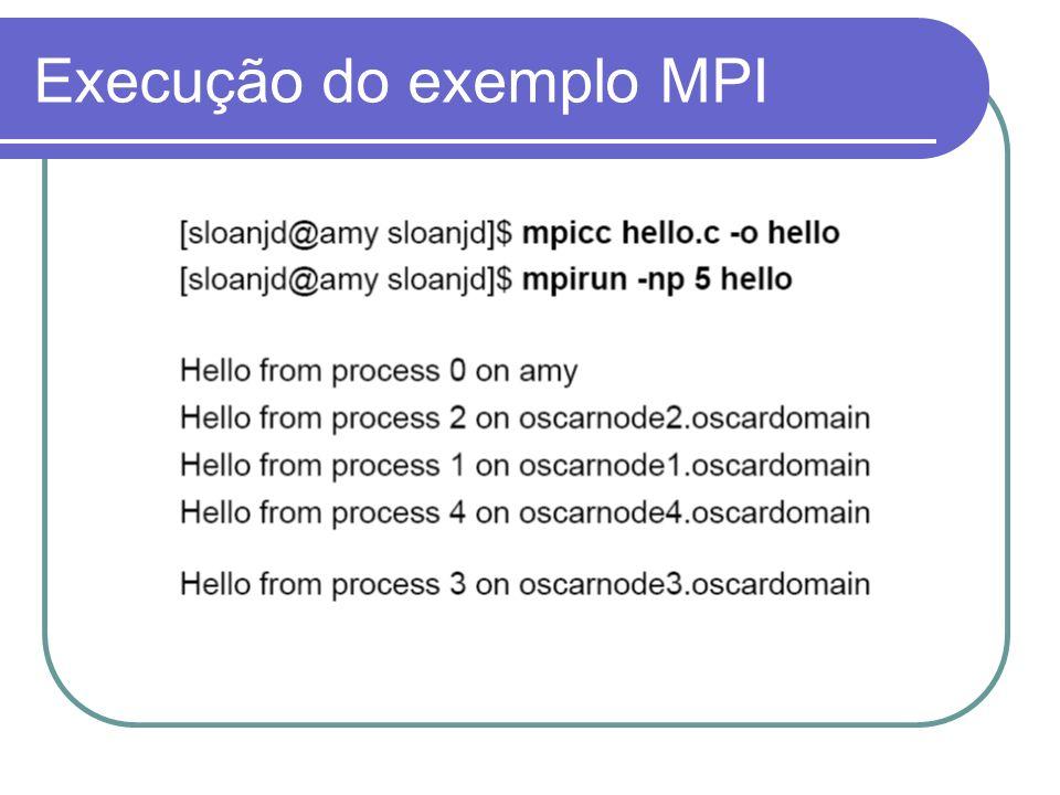 Execução do exemplo MPI