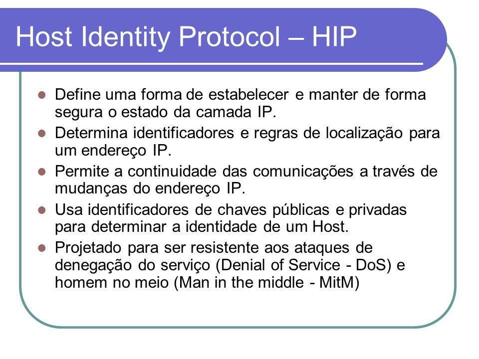 Host Identity Protocol – HIP