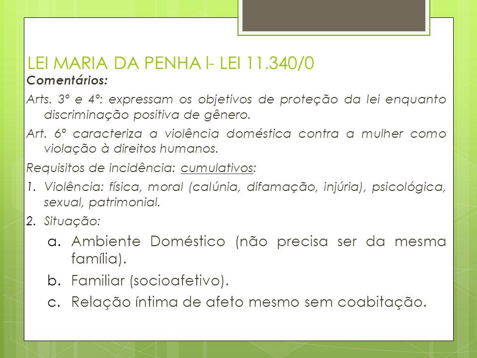 LEI MARIA DA PENHA l- LEI 11.340/0