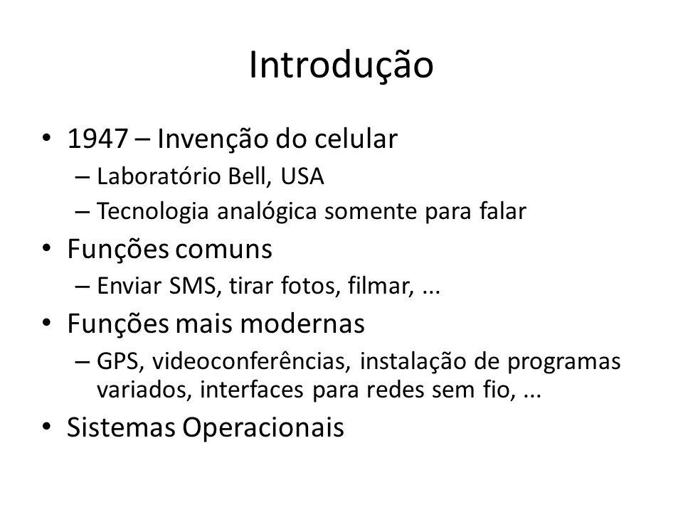 Introdução 1947 – Invenção do celular Funções comuns