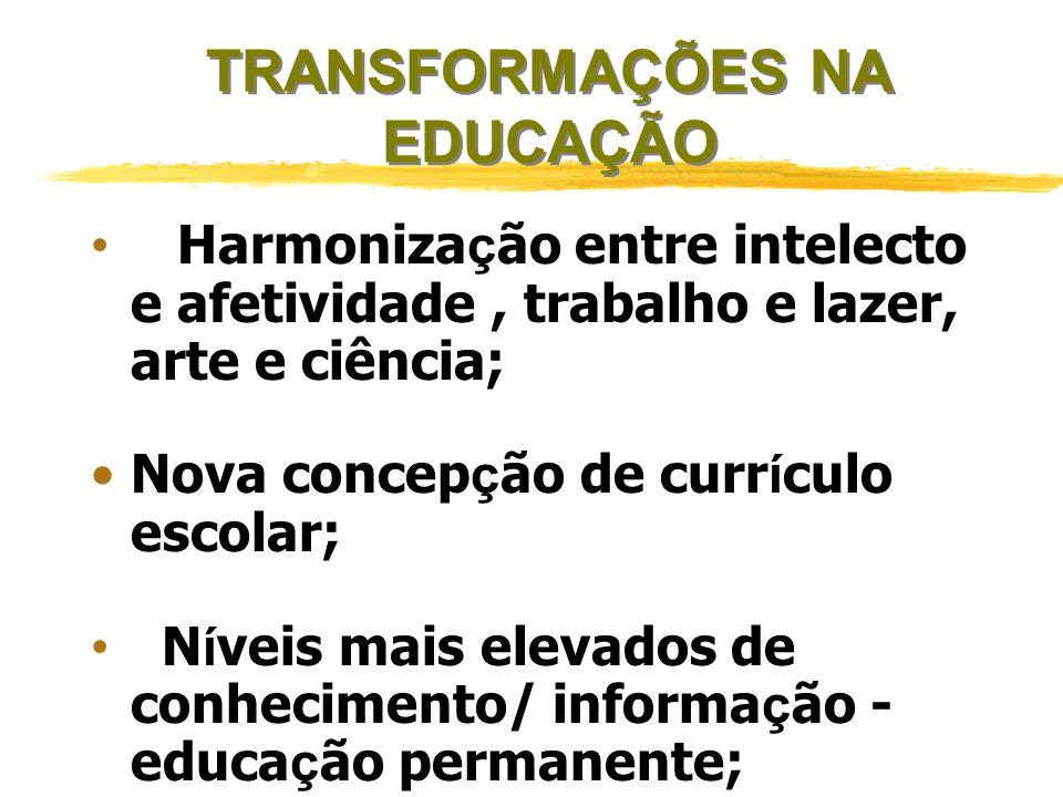 TRANSFORMAÇÕES NA EDUCAÇÃO