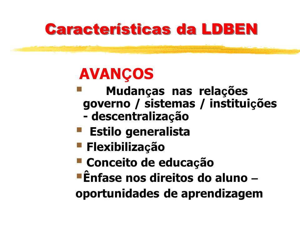 Características da LDBEN