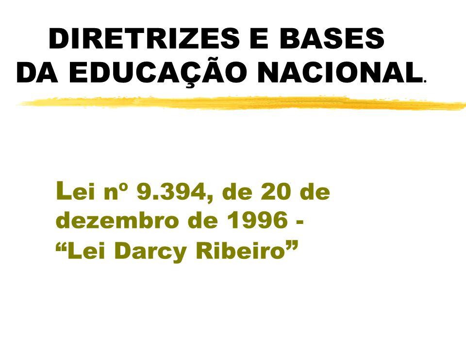 Lei nº 9.394, de 20 de dezembro de 1996 - Lei Darcy Ribeiro