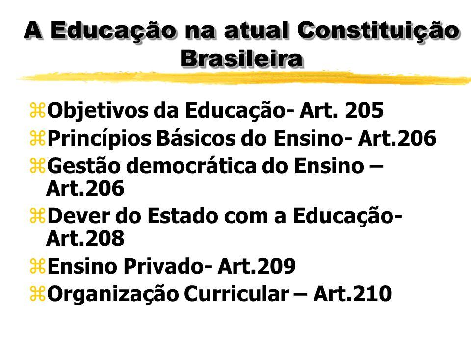 A Educação na atual Constituição Brasileira