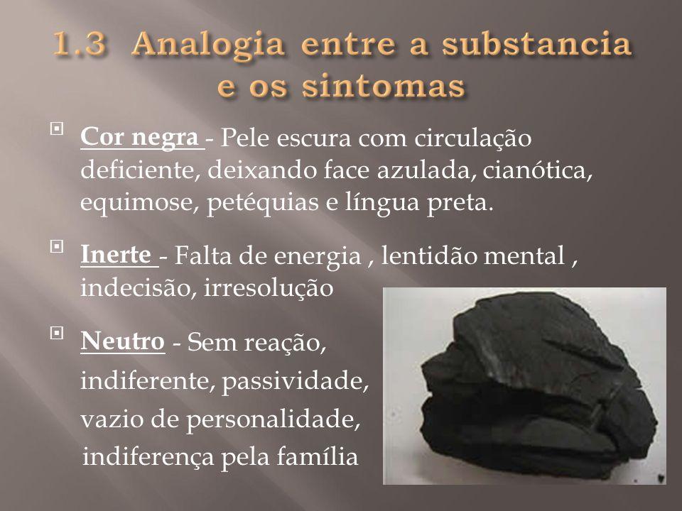 1.3 Analogia entre a substancia e os sintomas