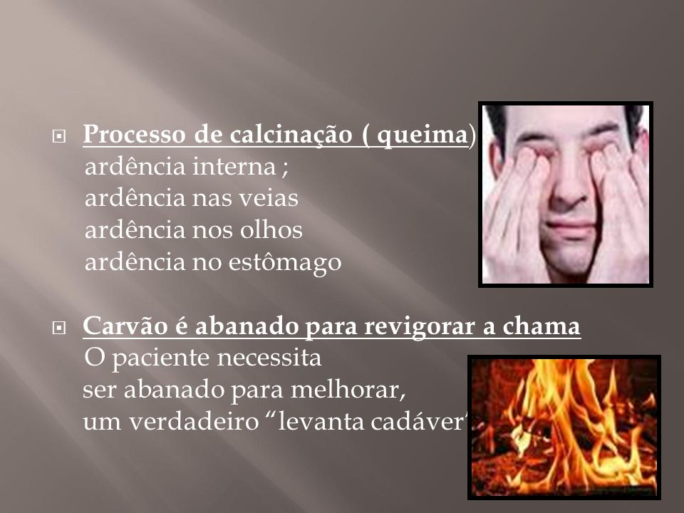 Processo de calcinação ( queima):