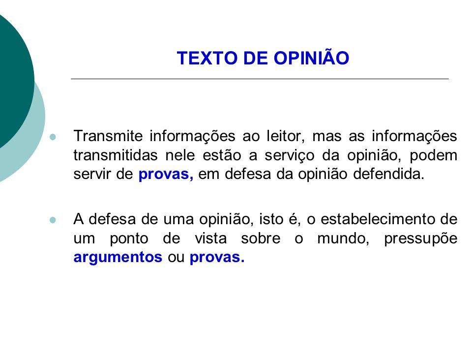 TEXTO DE OPINIÃO
