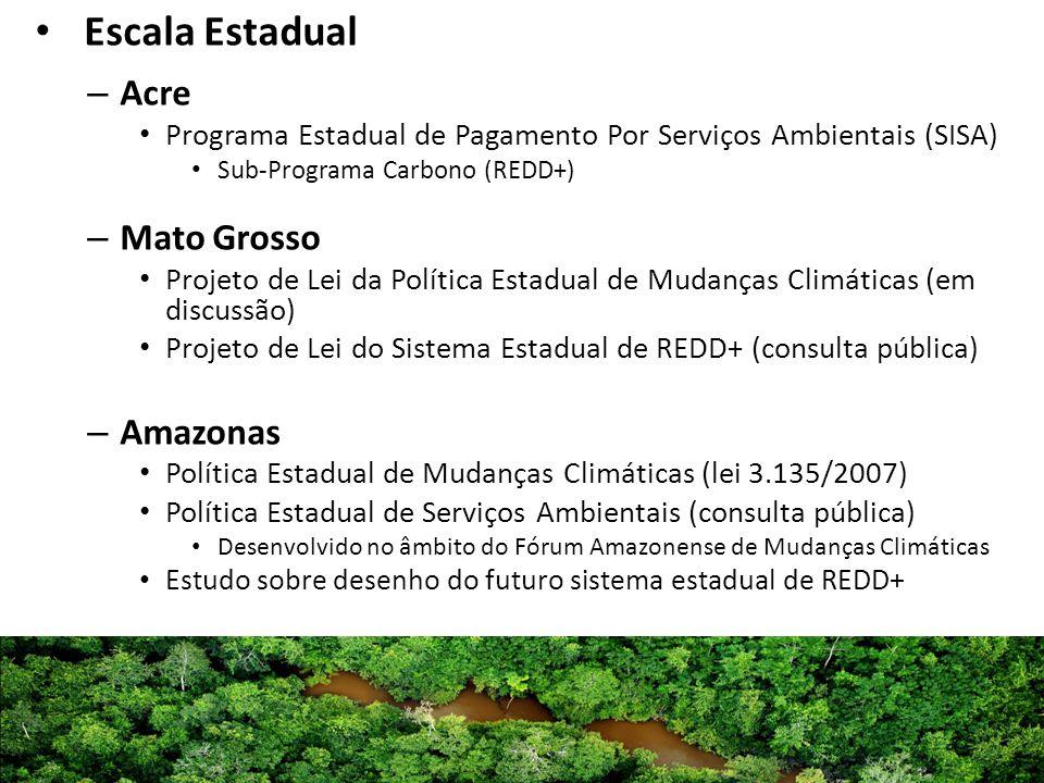 Escala Estadual Acre Mato Grosso Amazonas