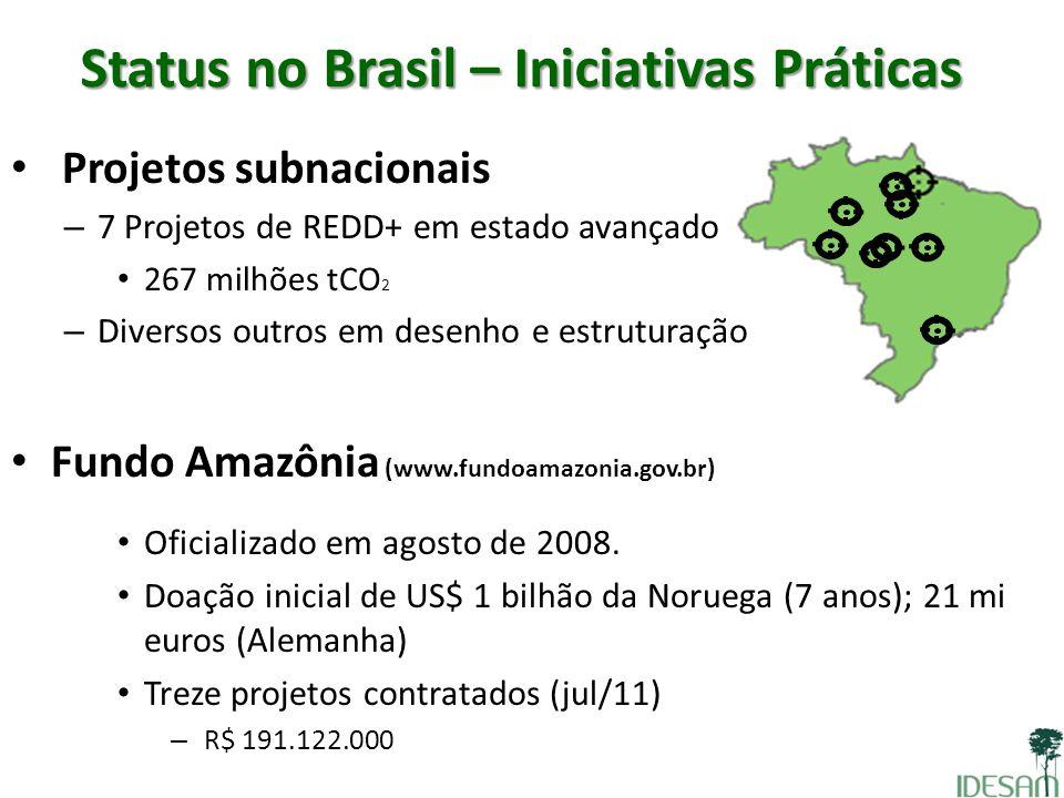 Status no Brasil – Iniciativas Práticas