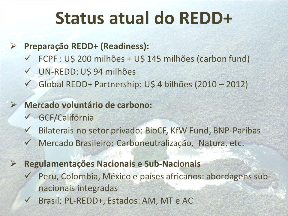 Status atual do REDD+ Preparação REDD+ (Readiness):