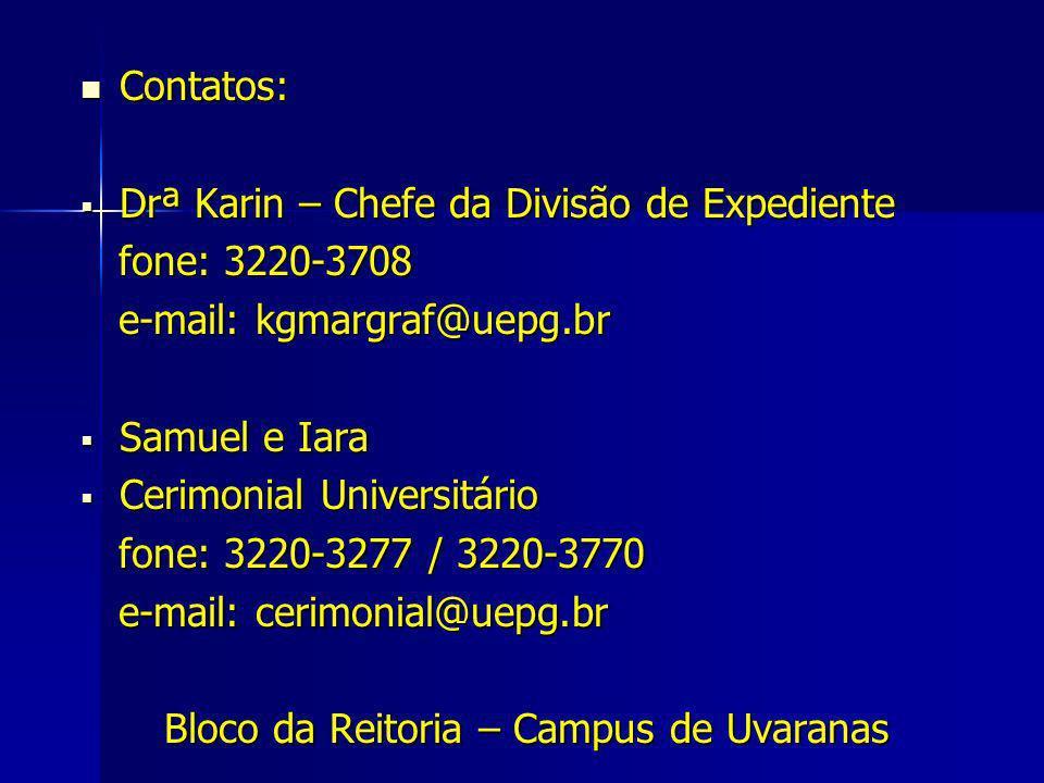 Bloco da Reitoria – Campus de Uvaranas