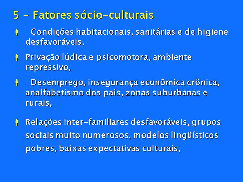 5 - Fatores sócio-culturais