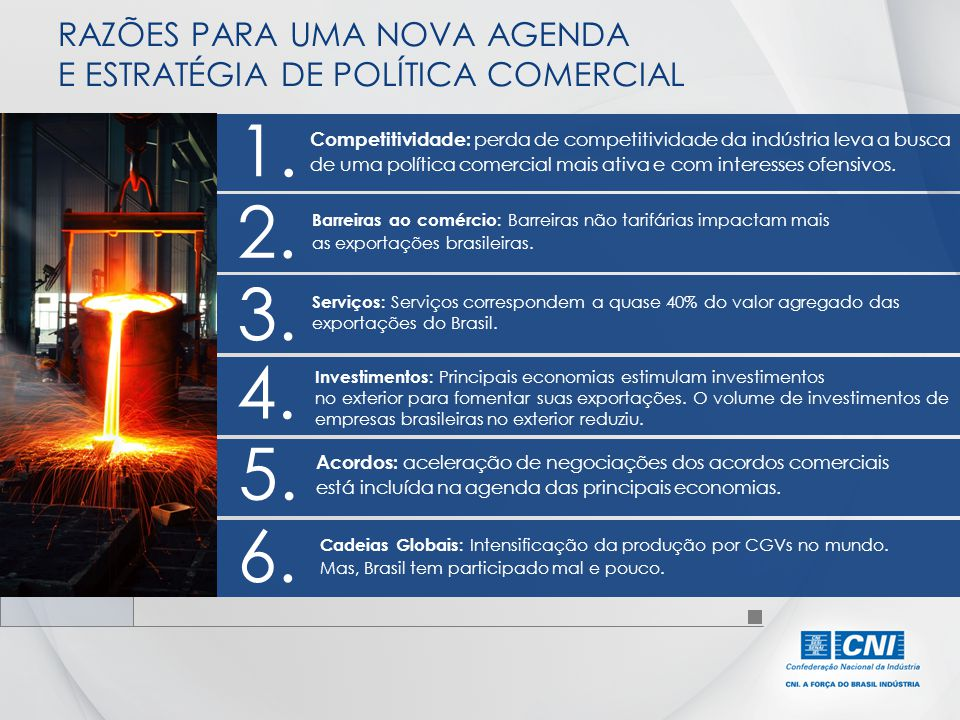RAZÕES PARA UMA NOVA AGENDA E ESTRATÉGIA DE POLÍTICA COMERCIAL