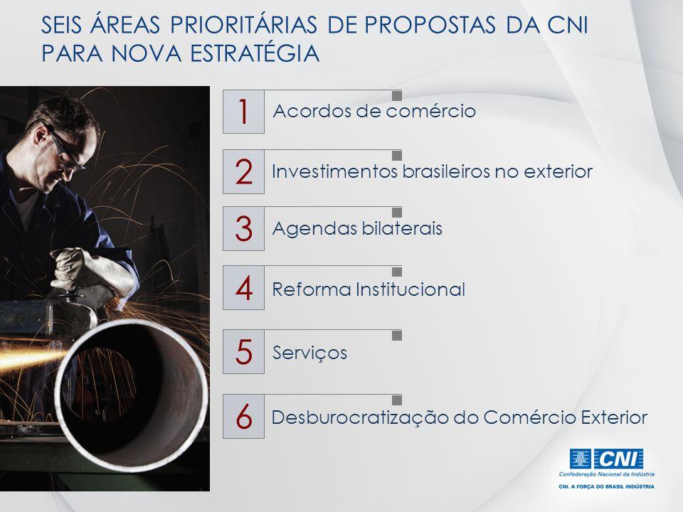 SEIS ÁREAS PRIORITÁRIAS DE PROPOSTAS DA CNI PARA NOVA ESTRATÉGIA