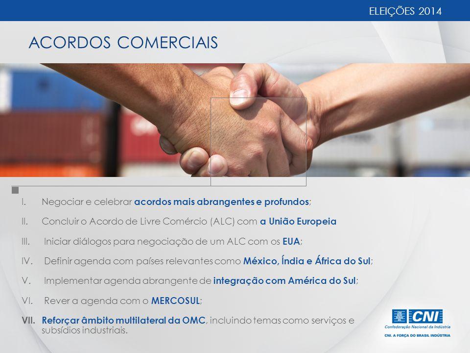 ACORDOS COMERCIAIS ELEIÇÕES 2014