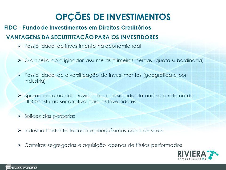 VANTAGENS DA SECUTITIZAÇÃO PARA OS INVESTIDORES