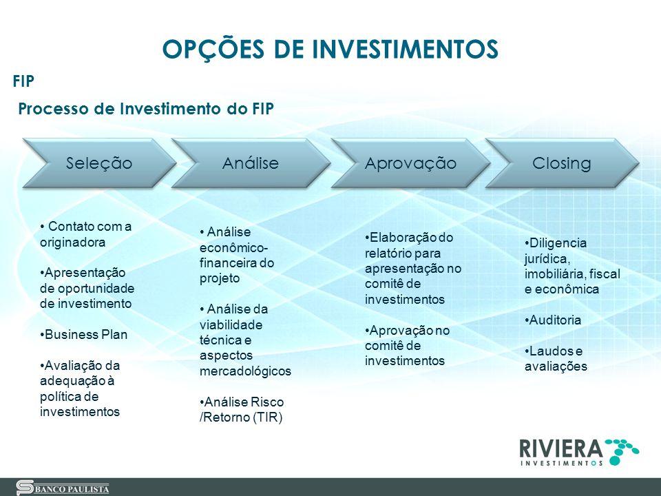 Processo de Investimento do FIP