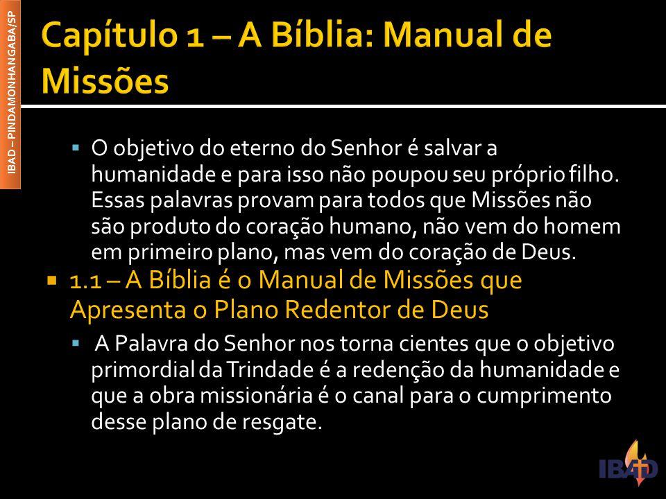 Capítulo 1 – A Bíblia: Manual de Missões