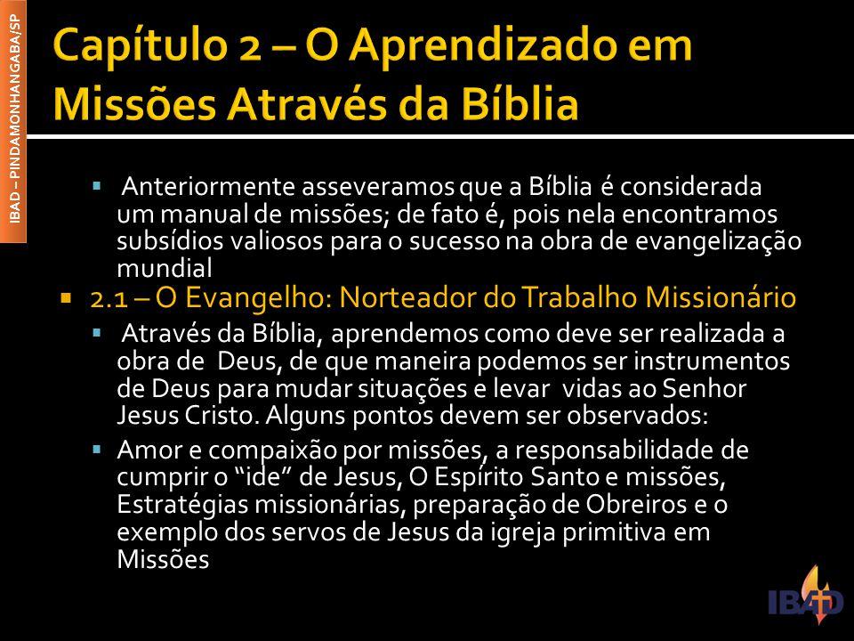 Capítulo 2 – O Aprendizado em Missões Através da Bíblia