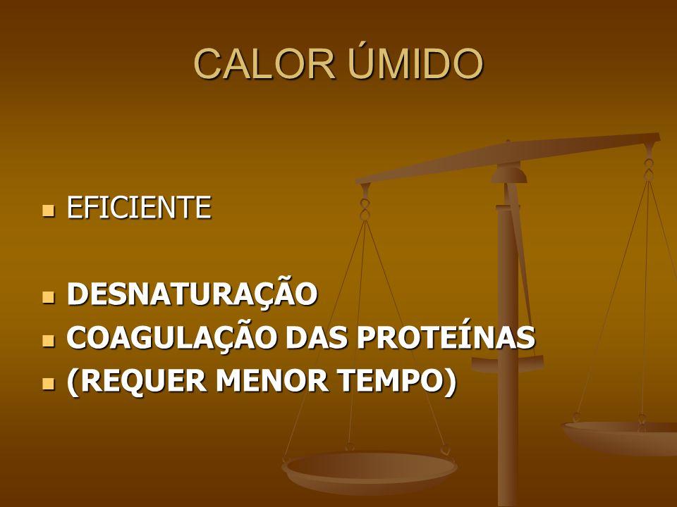 CALOR ÚMIDO EFICIENTE DESNATURAÇÃO COAGULAÇÃO DAS PROTEÍNAS