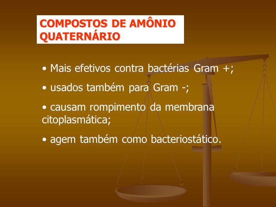 COMPOSTOS DE AMÔNIO QUATERNÁRIO
