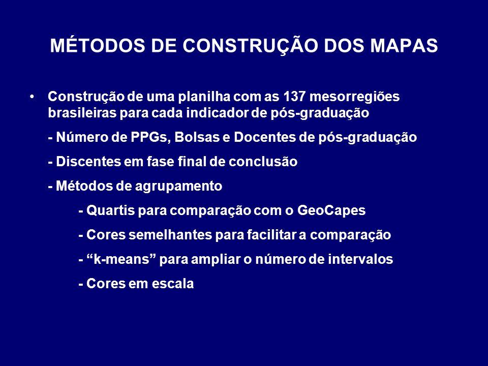MÉTODOS DE CONSTRUÇÃO DOS MAPAS