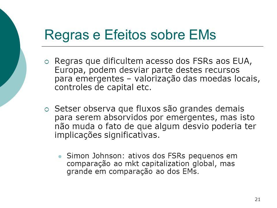 Regras e Efeitos sobre EMs