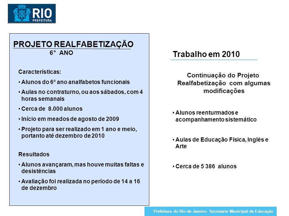 Continuação do Projeto Realfabetização com algumas modificações