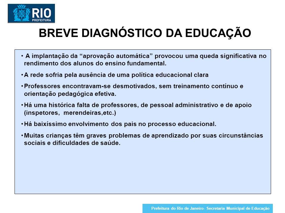 BREVE DIAGNÓSTICO DA EDUCAÇÃO