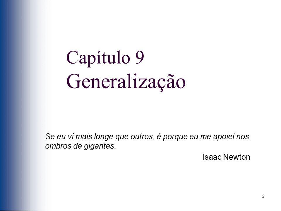 Capítulo 9 Generalização