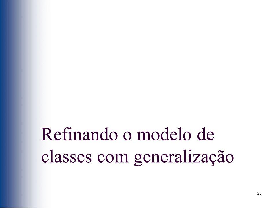 Refinando o modelo de classes com generalização
