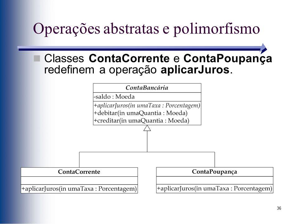 Operações abstratas e polimorfismo