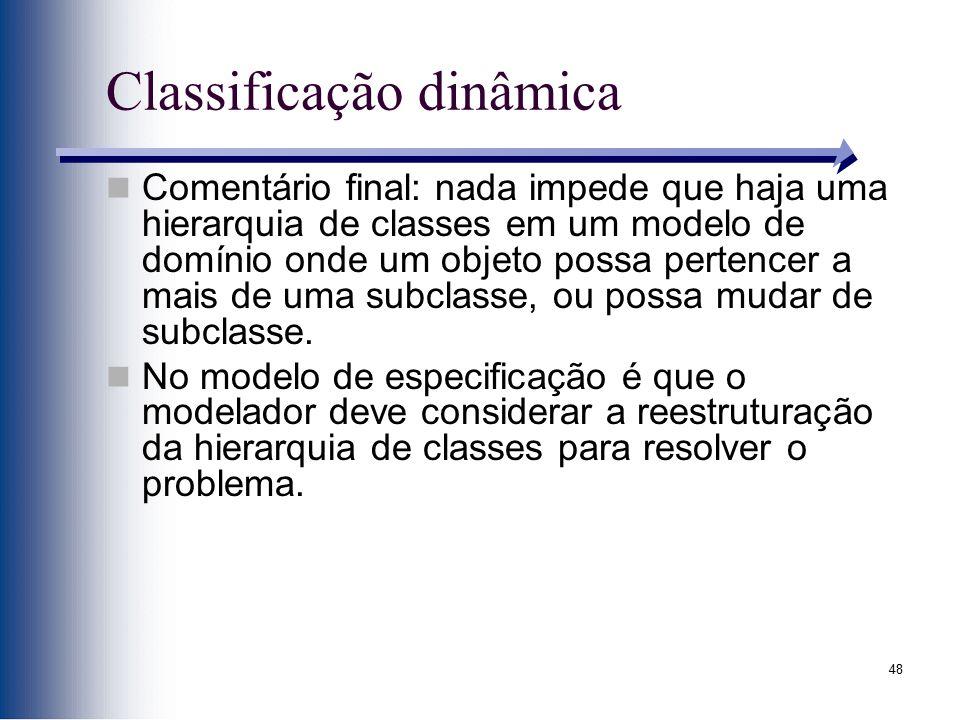 Classificação dinâmica