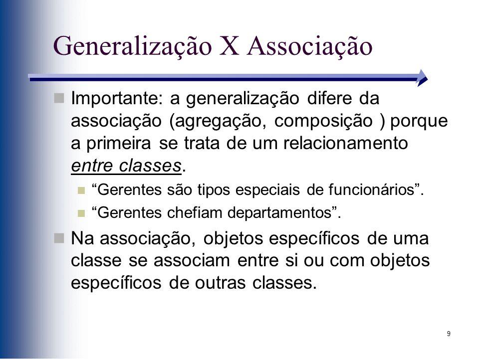 Generalização X Associação
