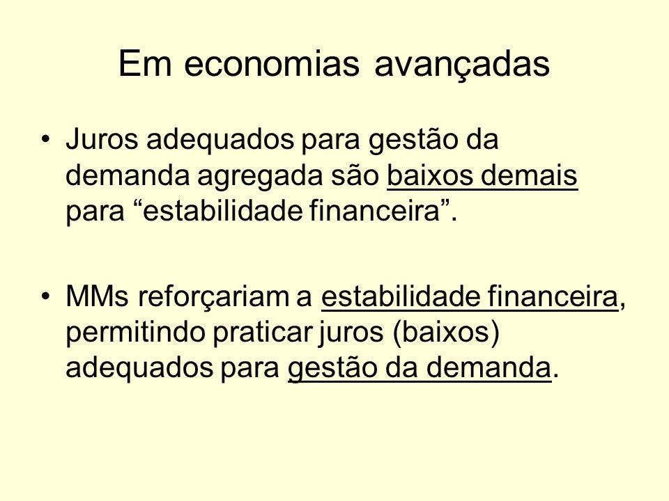 Em economias avançadas