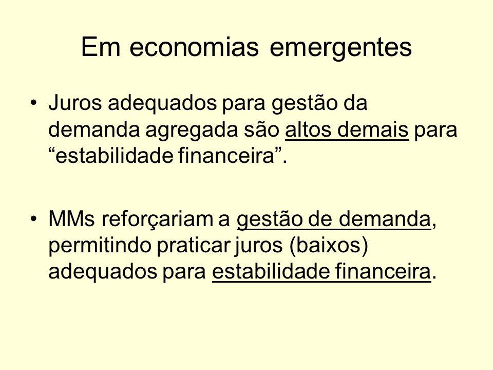 Em economias emergentes