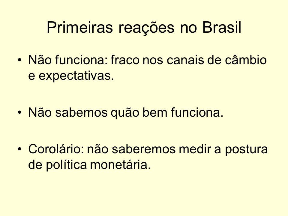 Primeiras reações no Brasil