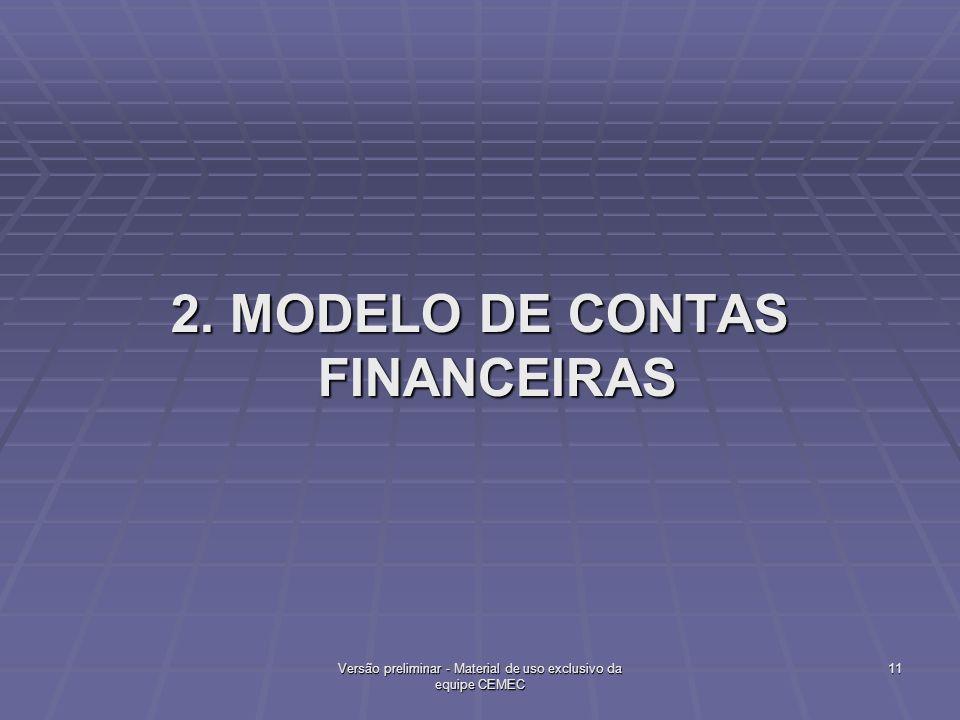 2. MODELO DE CONTAS FINANCEIRAS