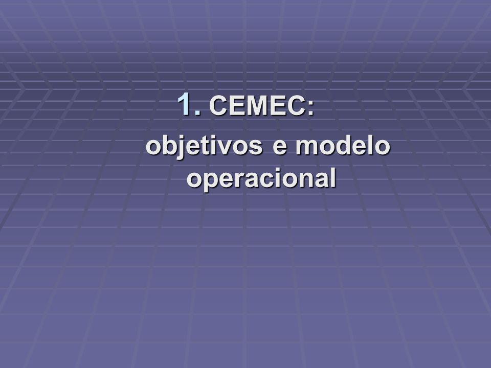 objetivos e modelo operacional
