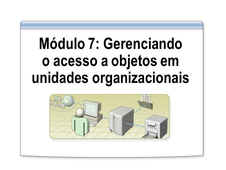 Módulo 7: Gerenciando o acesso a objetos em unidades organizacionais