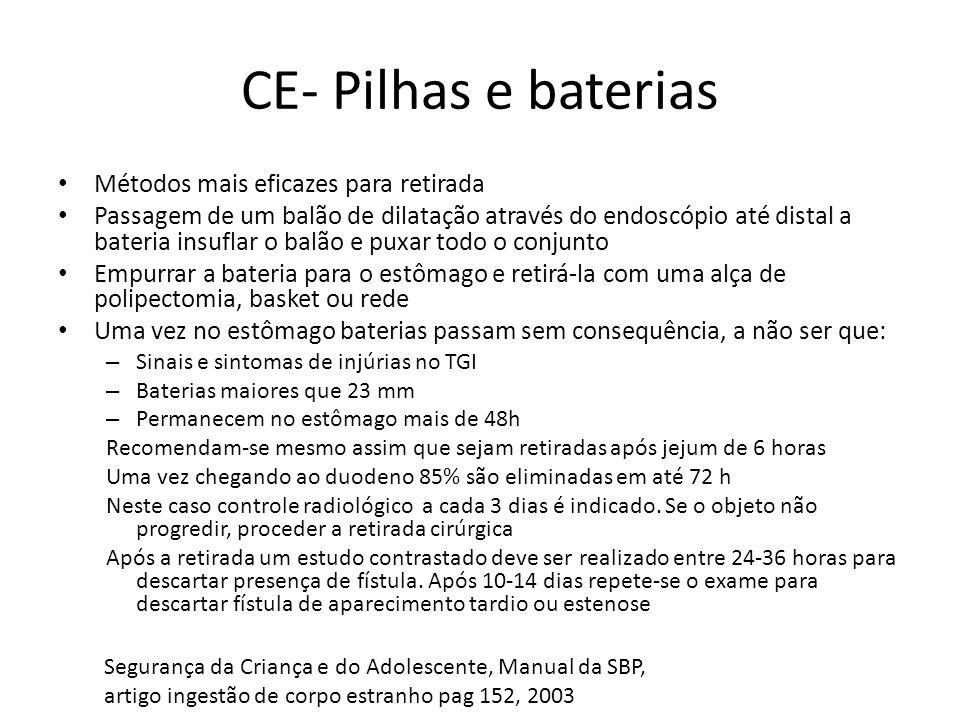 CE- Pilhas e baterias Métodos mais eficazes para retirada