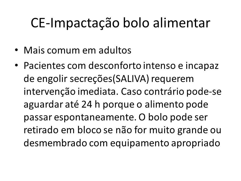 CE-Impactação bolo alimentar