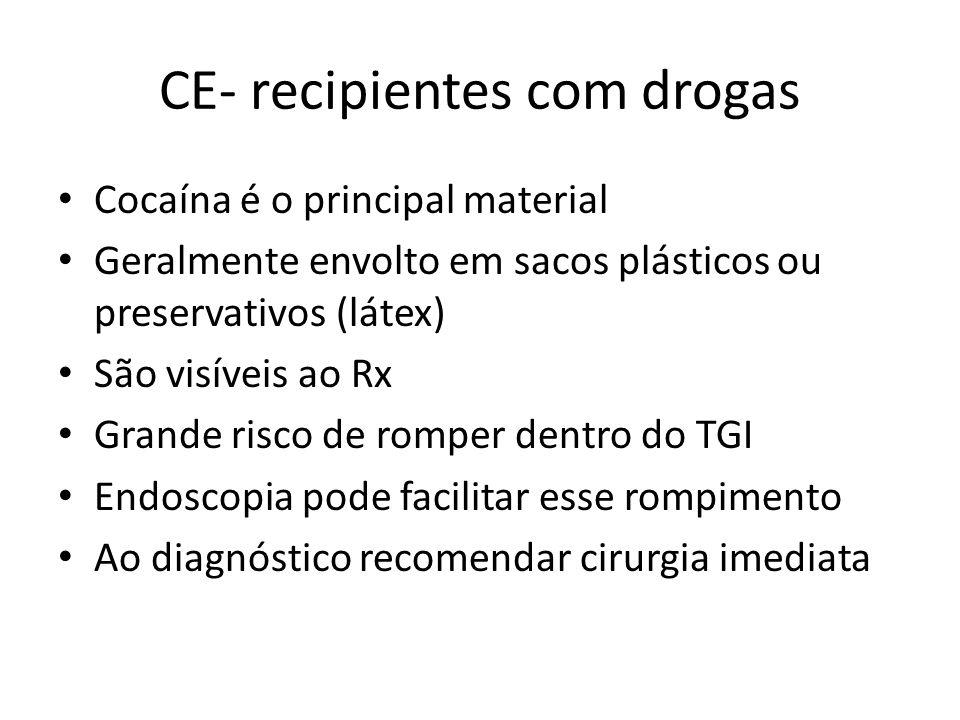 CE- recipientes com drogas