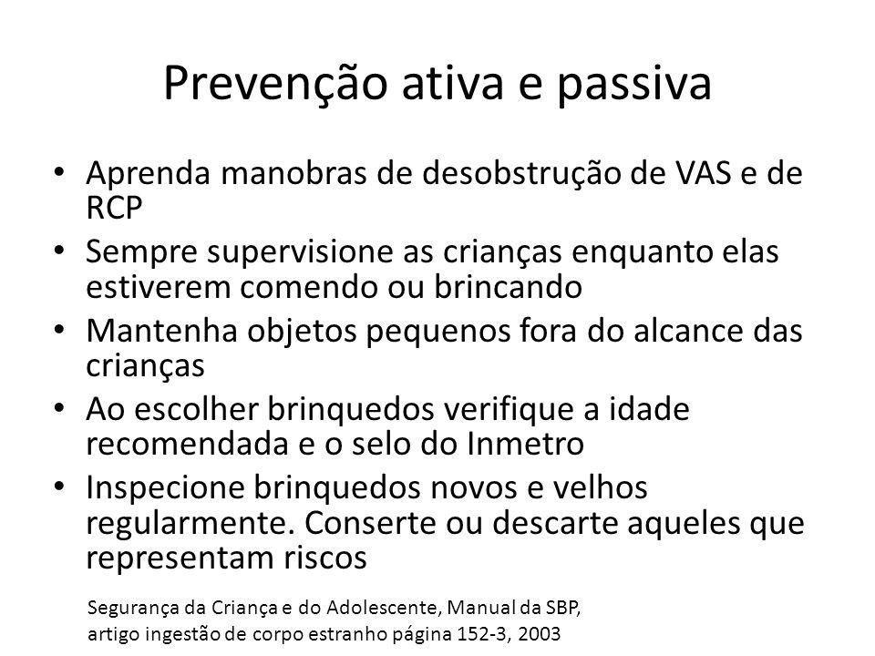 Prevenção ativa e passiva