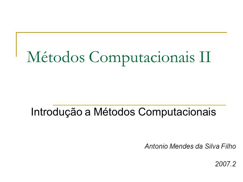 Métodos Computacionais II