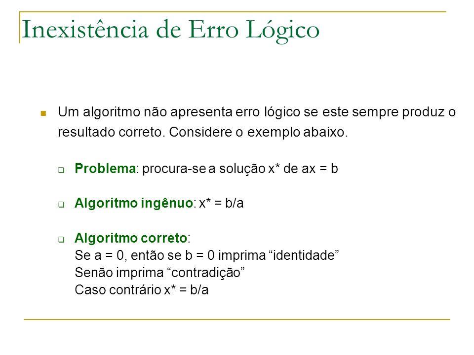 Inexistência de Erro Lógico