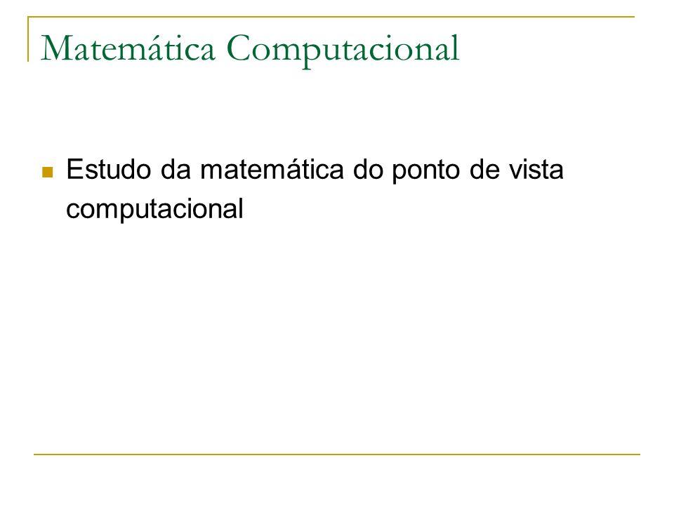 Matemática Computacional