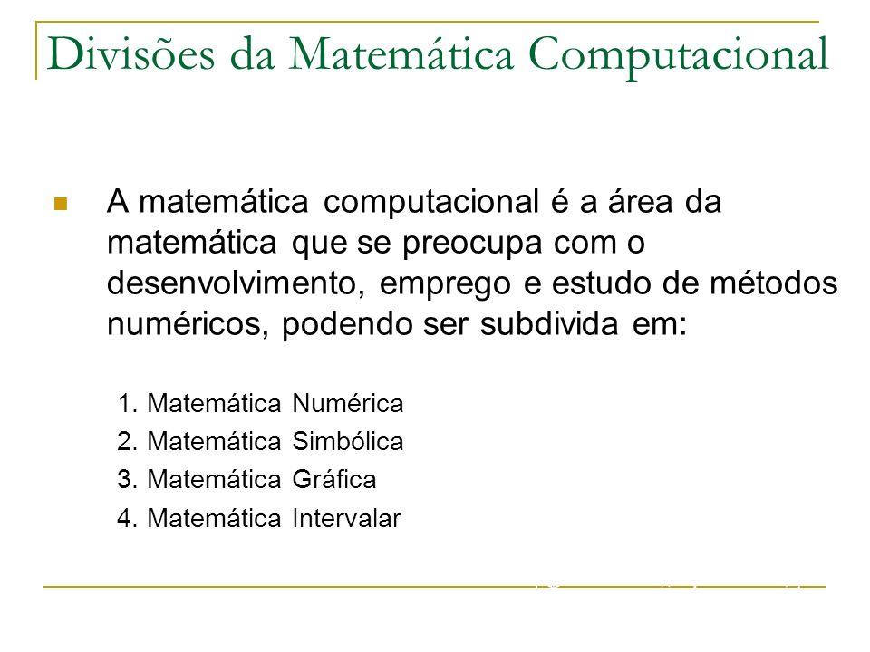 Divisões da Matemática Computacional