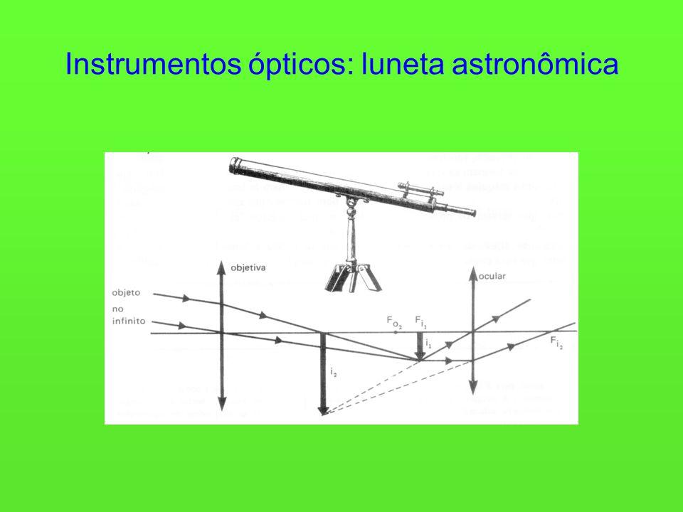 Instrumentos ópticos: luneta astronômica