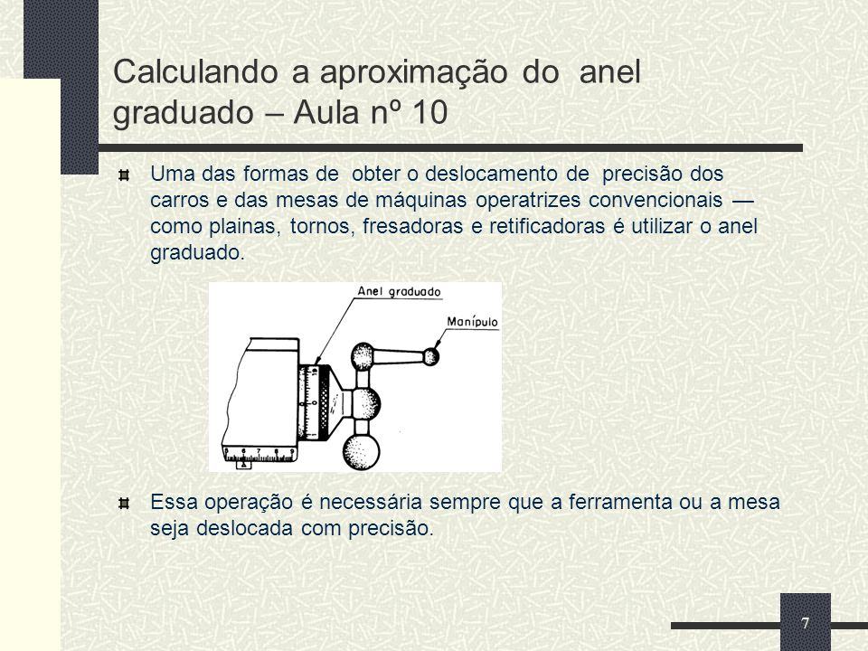 Calculando a aproximação do anel graduado – Aula nº 10